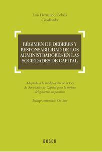 Imagen de Régimen de deberes y responsabilidad de los administradores en las sociedades de capital