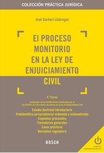 Imagen de El proceso monitorio en la Ley de enjuiciamiento civil. 4ª edición