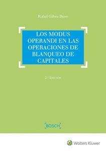 Imagen de Los modus operandi en las operaciones de blanqueo de capitales. 2ª Edición