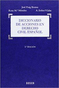 Imagen de Diccionario de acciones en Derecho civil español