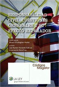 Imagen de Responsabilidad civil. Cuestiones generales y su efecto reparador