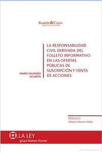 Imagen de La responsabilidad civil derivada del folleto informativo
