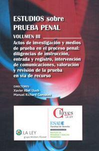 Imagen de Estudios sobre prueba penal. Volumen III.
