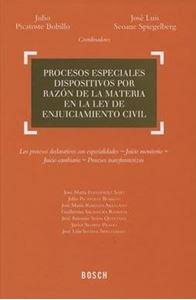 Imagen de Procesos especiales dispositivos por razón de la materia en la Ley de Enjuiciamiento Civil
