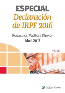 Imagen de ESPECIAL Declaración de IRPF. Ejercicio 2016