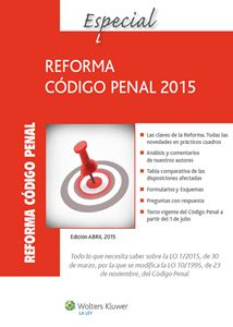 Imagen de Especial reforma código Penal 2015