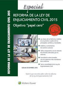 Imagen de Especial Reforma de la Ley de Enjuiciamiento Civil 2015