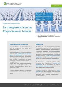Imagen de La transparencia en las Corporaciones Locales