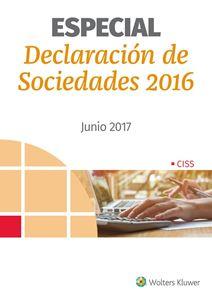 Imagen de Especial Declaración de Sociedades. Ejercicio 2016