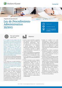 Imagen de Ley de Procedimiento Administrativo (Ley 39/2015)
