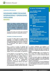 Imagen de Jornada sobre la fiscalidad de las operaciones vinculadas. MADRID