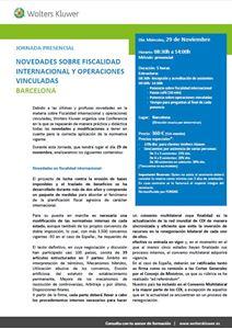 Imagen de Jornada sobre la fiscalidad de las operaciones vinculadas. BARCELONA