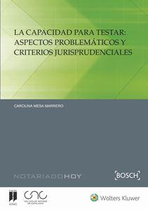 Imagen de La capacidad para testar: aspectos problemáticos y criterios jurisprudenciales