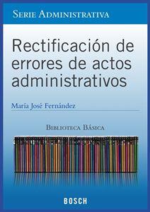 Imagen de BBB. Rectificación de errores de actos administrativos (Suscripción)