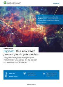 Imagen de Programa Ejecutivo Big Data. Una necesidad para empresas  y despachos