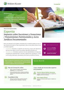 Imagen de Expertia Módulo Impuesto sobre Sucesiones y Donaciones/Transmisiones Patrimoniales y Actos Jurídicos Documentados
