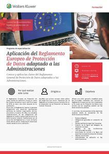 Imagen de Programa de especialización. Aplicación del Reglamento Europeo de Protección de Datos adaptado a las Administraciones
