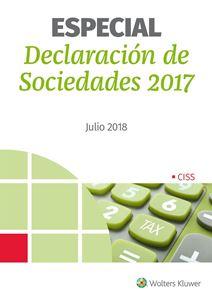 Imagen de Especial Declaración de Sociedades. Ejercicio 2017
