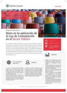 Imagen de Programa de especialización Retos en la aplicación de la Ley de Contratación en el Sector Público