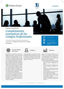 Imagen de Programa de especialización Cumplimientos normativos de los Colegios Profesionales