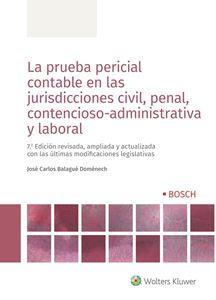 Imagen de La prueba pericial contable en las jurisdicciones civil, penal, contencioso-administrativa y laboral. 7.ª ed.