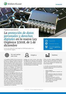 Imagen de Programa de especialización La protección de datos personales y derechos digitales en la nueva Ley Orgánica 3/2018, de 5 de diciembre