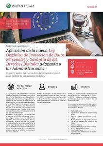 Imagen de Programa de especialización Aplicación de la nueva Ley Orgánica de Protección de Datos Personales y Garantía de los Derechos Digitales adaptada a las Administraciones