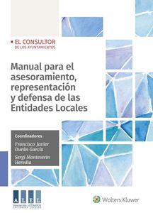 Imagen de Manual para el asesoramiento, representación y defensa de las Entidades Locales