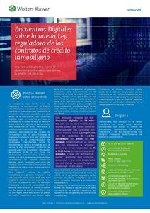 Imagen de Encuentros digitales sobre la nueva Ley reguladora de los contratos de crédito inmobiliario