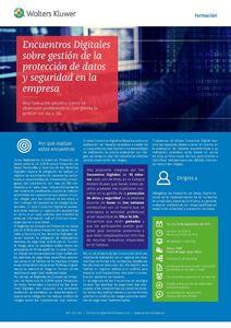 Imagen de Encuentros Digitales sobre gestión de la protección de datos y seguridad en la empresa