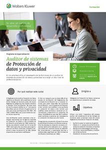 Imagen de Programa de especialización Auditor de sistemas de Protección de datos y privacidad