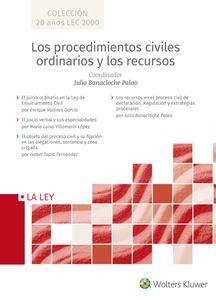 Imagen de Los procedimientos civiles ordinarios y los recursos (Colección 20 años LEC 2000)