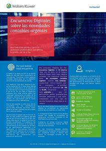 Imagen de Encuentros digitales Sobre las novedades contables urgentes