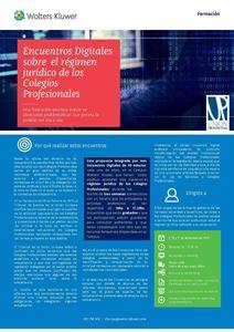 Imagen de Encuentros digitales sobre el régimen jurídico de los Colegios Profesionales