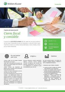 Imagen de Programa de especialización Cierre Fiscal y Contable