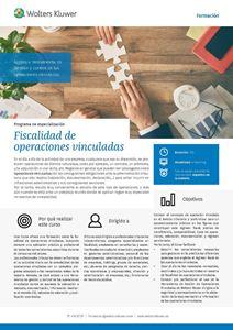 Programa de especialización Fiscalidad de operaciones vinculadas