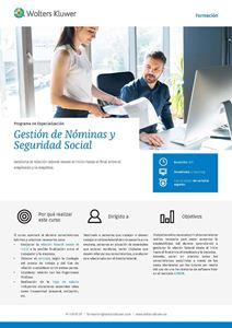 Programa de especialización Gestión de Nóminas y Seguridad Social