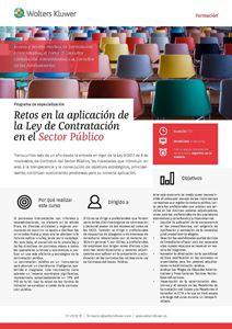 Programa de especialización Retos en la aplicación de la Ley de Contratación en el Sector Público