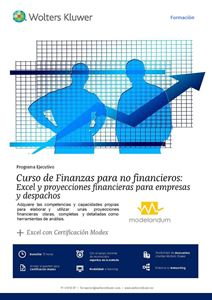 Imagen de Programa ejecutivo Curso de Finanzas para no financieros: Excel y proyecciones financieras para empresas y despachos + Excel con Certificación Modex