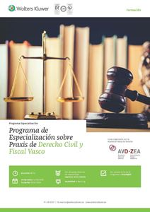 Imagen de Programa de especialización sobre Praxis de Derecho Civil y Fiscal Vasco
