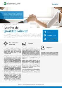 Imagen de Programa de especialización Gestión de igualdad laboral