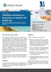 Imagen de Taller virtual «Medidas económicas y financieras en tiempos del COVID-19»