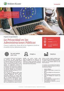 Imagen de Programa de especialización sobre la Privacidad en las Administraciones Públicas