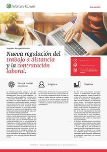 Imagen de Programa de especialización Nueva regulación del trabajo a distancia y la contratación laboral