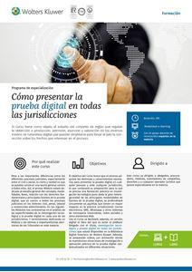 Imagen de Programa de especialización Cómo presentar la prueba digital en todas las jurisdicciones