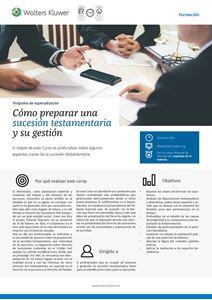 Imagen de Programa de especialización Cómo preparar una sucesión testamentaria y su gestión