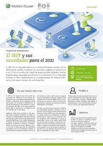 Imagen de Programa de especialización El IRPF y sus novedades para el 2021
