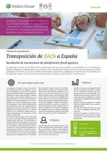 Imagen de Programa de especialización Transposición de DAC6 a España
