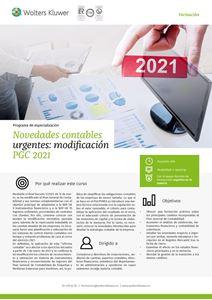 Imagen de Programa de especialización Novedades contables urgentes: modificación PGC 2021