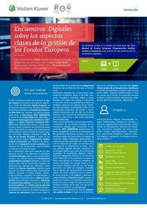 Imagen de Encuentros Digitales sobre los aspectos claves de la gestión de los Fondos Europeos